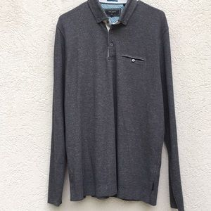 Ted Baker of London size 5 shirt gray long sleeve